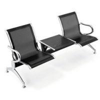 不锈钢带桌子休息等候排椅图片