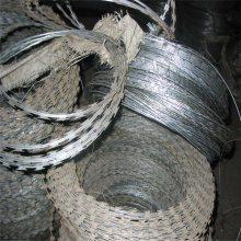 螺旋式刀片刺网 刀片刺绳支架 边防哨所防护网