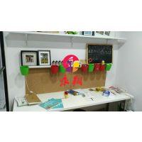 佛山软木板黑板组合3惠东企划公告栏装饰W磁性软木板