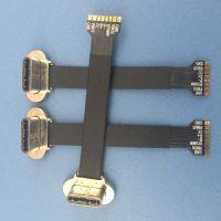 TYPE-C 3.1 无线充 背夹头5V D+D- 短路 输出 放电+ 8P带数据