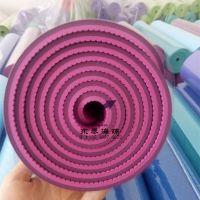 加宽tpe瑜伽垫 双色可印刷logo瑜伽垫厂家