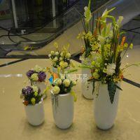 智信鸿厂家直销新款圆形组合机场花盆 玻璃钢商场美陈花盆定制 酒店装饰