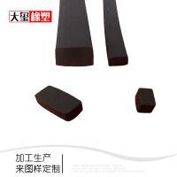 三元乙丙发泡密封条 矩形EPDM发泡橡胶条 各种规格方形胶条