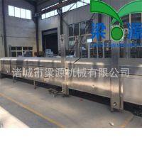 全自动鱼豆腐蒸线大型蒸汽隧道梁源机械专业生产鱼豆腐机器设备