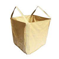 厂家直销黄色 PP聚丙烯 吨袋 90*90*105过角托底两吊环加固 集装袋 有机肥包装袋