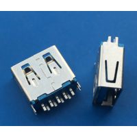 夹板3.0母座USB 11.5mm短体夹板0.8 1.0mm蓝胶 兰胶A母3.0插板