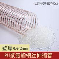 PU聚氨酯风管140mm PU吸尘软管 通风钢丝伸缩软管通风排气管