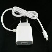 正品智能手机vivo5V2A双USB带线手机充电器 5V2A欧规USB充电器