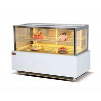 威雪达日式直角蛋糕柜冷藏柜寿司水果保鲜柜圆弧前后开门