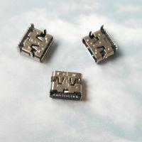TYPE-C6P贴片式母座+4个固定脚DIP=USB CF 3.1充电简易款