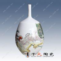 青花瓷缠枝莲赏瓶 中式客厅陶瓷装饰品