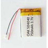 聚合物锂电池 504040 750mAh 3.7V 三元材料UL UM38.3 MSDS