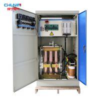 上海纯宁三相380V铜柱式电力补偿SBW-100KVA大功率滑动式交流稳压器