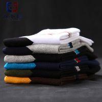 南海袜子厂家贴牌加工纯棉优质休闲中筒袜 外贸OEM代工男士袜子