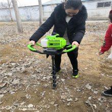 葡萄支架挖坑机 启航牌果树施肥打眼机 蔬菜大棚埋桩钻坑机厂家