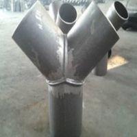 碳钢焊接斜三通84° 斜四通60°异径/Y型/焊接三通DN400厂家报价