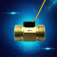 批量生产销售脉冲式流量传感器 霍尔流量传感 6分流量计