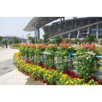 人形天桥 河道护栏道路护栏绿化花盆双面花盆组合 经久耐用