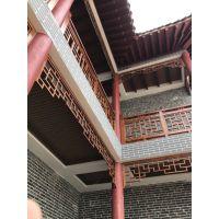 郴州市园林区凉亭6米长仿古铝挂落铝窗花认可德普龙技术制造
