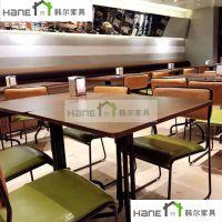 江浙沪北欧轻食餐厅桌子 素食食府长桌定制 实木方桌定做 韩尔品牌