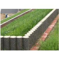 山东青岛防护栏杆 水泥仿木栏杆 堤草坪混凝土仿木桩厂家