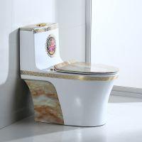 卫浴陶瓷现代新款欧式彩金家装马桶座厕