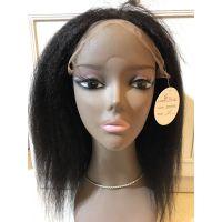广州全蕾丝假发批发市场 马来西亚真人发头套 女士kinky straight全手织自然黑