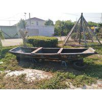 供应仿古木船 可做旧公园摆件船 景观木质船装饰木船