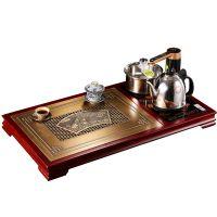 清明上河图茶盘套装纯铜家具新中式茶桌私人铜装修定制