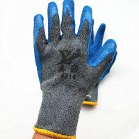 厂家供应真诚218浸胶线皱纹天然乳胶超级耐磨防滑防割工作手套 劳保灰纱皱纹手套