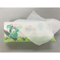 卫生湿巾生产厂家 80片婴儿手口全棉湿巾 无纺布柔巾卷