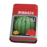 缩颈种子罐 西瓜方形铁罐 蔬菜种子罐专业定制