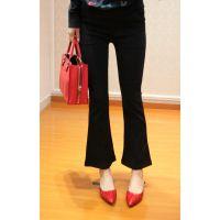 厂家库存尾货低价处理特价5元时尚高腰显瘦OL范优雅微喇叭裤GOEFIR歌菲尔便宜批发