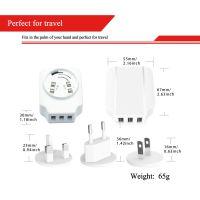 WEWO 3.4A 大气精美外观 3USB 可转换插头 旅行智能充电器