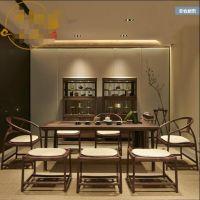 重庆优质实木茶几 茶桌椅组合仿古功夫茶台 复古原木新中式茶桌