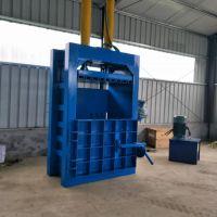 湖南废品压缩打包机 思路半自动易拉罐压块机 160吨塑料膜黄纸板卧式打包机