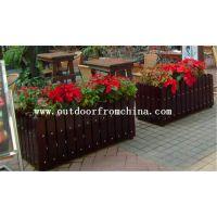 供应娱乐会所木质景观花盆 吊篮 阳台壁挂木质花架