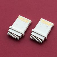 苹果lighting全塑10PIN公头/带音频接线脚/iphone8公头/夹板式