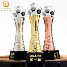 上海金属足球奖杯|足球友谊赛奖品|青少年足球赛纪念品|足球队颁奖活动奖杯