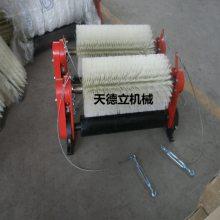 XQ-II被动滚刷清扫器 天德立被动无源输送带刮料器厂家热销
