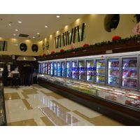 冷藏冷冻双温超市冷柜,徽点风冷子母柜定做,速冻饺子水饺展示柜