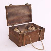 厂家定制 仿古洞藏酒老酒木盒 酒坛木箱复古白酒包装盒