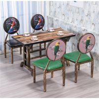 复古铁艺工业风西餐咖啡厅馆桌椅组合甜品奶茶店酒吧卡座沙发