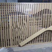 仿古装饰木纹铝格栅 铝制格栅花格窗厂家优惠销售