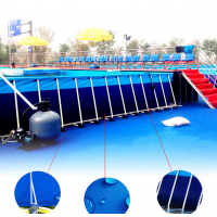支架游泳池水上游乐园 水上世界的支架泳池去哪订购 支架水池价格