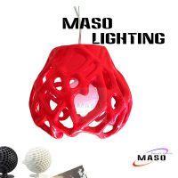 玛斯欧现代简约珊瑚款式MS-P1009S咖啡色服装门市装修厂家批发LED灯泡E27灯头可替换光源