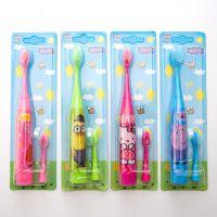 新款创意儿童电动牙刷卡通牙刷全自动双刷头装牙涮防漏电安全设计