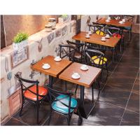 倍斯特欧式复古工业风铁艺餐桌椅主题火锅中餐厂家定制