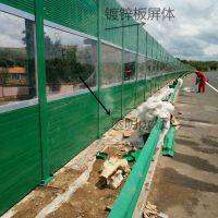 城市景观金属声屏障/百叶型声屏障/玻璃棉隔音墙厂家