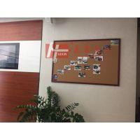 惠州单面软木板B阳江挂式装饰软木板N大型教学公告栏
